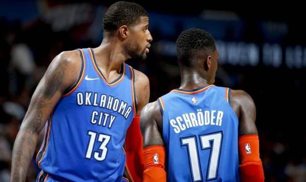 Thunder journal  Dennis Schroder takes advantage of double team on Paul  George aadd21558