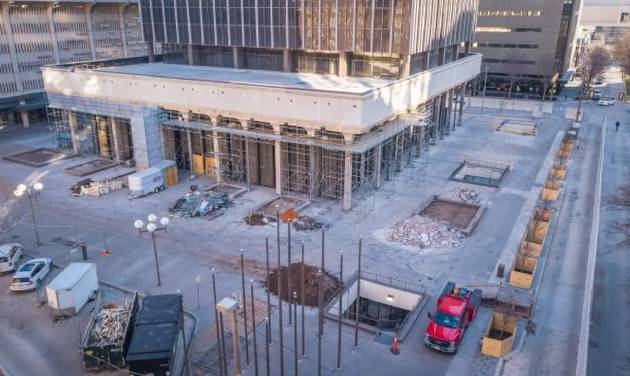 The plaza surrounding BancFirst Tower is being rebuilt for the first time since it opened as the home to Liberty Bank in 1971. The exterior...