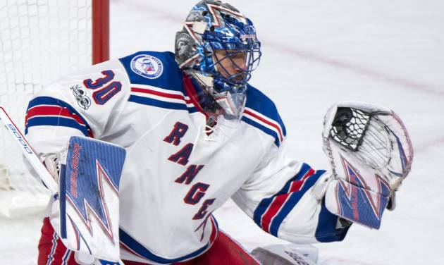 Lundqvist, at his best, leads Rangers past Habs