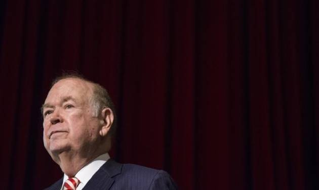Former University of Oklahoma president David Boren pauses during a press conference in 2017. A criminal investigation of Boren entered a new...