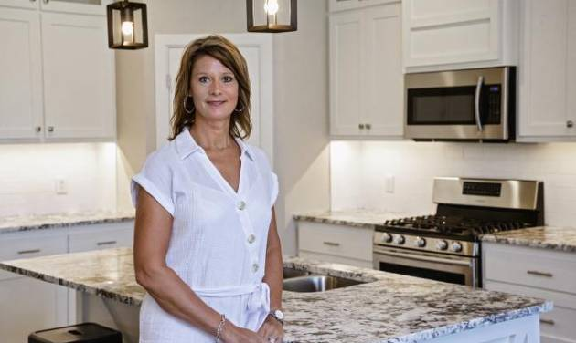 Denise Patterson, owner of Denise Patterson Custom Homes and 2019 president of Central Oklahoma Home Builders Association, shows the kitchen at...
