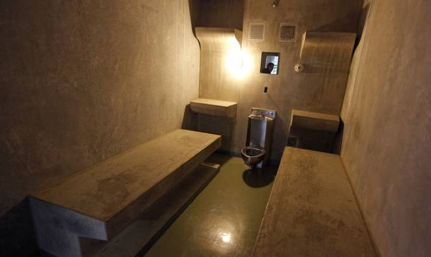 The inside of cell LL on H Unit\'s death row is seen in 2011 at the Oklahoma State Penitentiary...