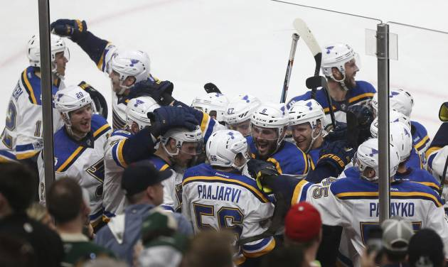 Blues oust Wild on Paajarvi OT goal