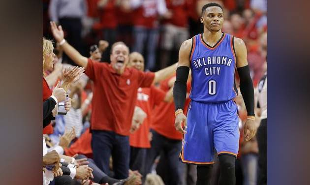 'Next question!' Russell Westbrook in heated confrontation with journo defending Steven Adams