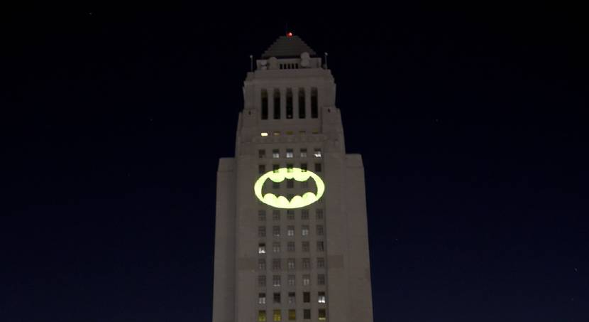 LA lights the Bat-Signal for the late Adam West