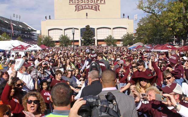 Image result for mississippi state football dawg walk