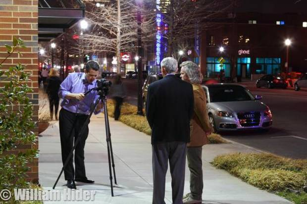 Will gets a shot of David Morris interviewing Midtown Renaissance developer Mickey Clagg and architect Brian Fitzsimmons.