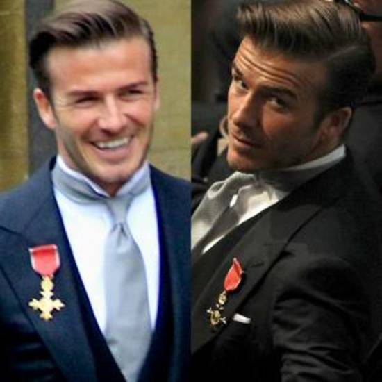When David Beckham Arrived At Westminster Abbey For The Royal Wedding Of Prince William And Kate Middleton Last Week He Was Proudly Displaying His Order