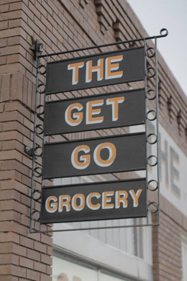 <p>Outside of The Get Go Grocery on Sunday March 13, 2016 in Marfa, Texas. [Photo by Matt Carney, for LOOKatOKC]</p>