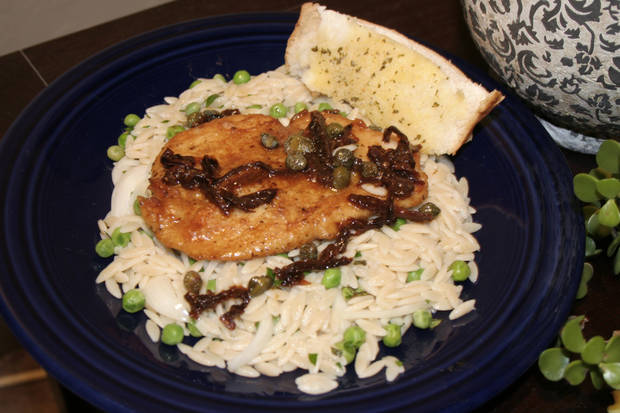 Chicken Scaloppini with Herbaceous Orzo