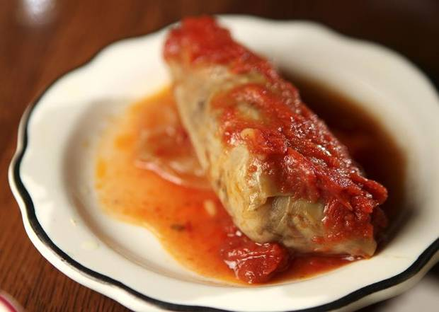 RESTAURANT / FOOD: Cabbage roll at Jamil's Steakhouse in Oklahoma City, Monday, June 20, 2011. Photo by Garett Fisbeck, The Oklahoman ORG XMIT: KOD