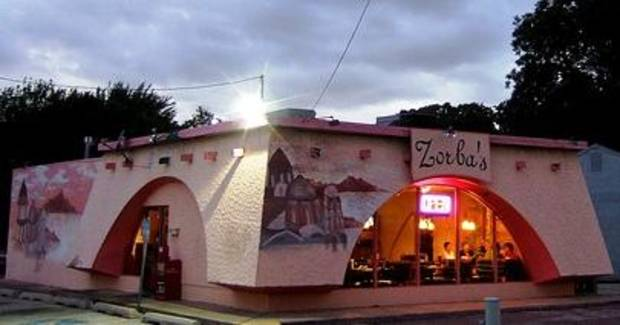 Zorba's at its old location, formerly a Taco Tico.