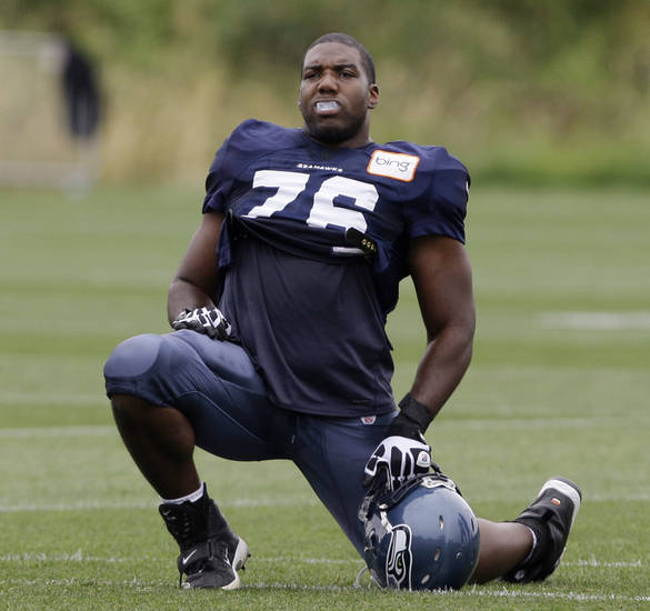 Seattle Seahawks offensive lineman Russell Okung helped recent commit Emmanuel Ogbah make his decision. AP PHOTO