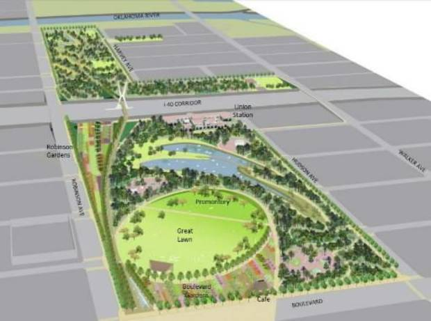 Yet another rendering of the park, released in January, again shows no hint of the Film Exchange building being saved.
