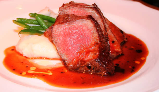 Roasted filet of beef.