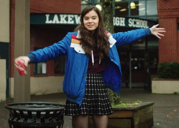"A scene from ""The Edge of Seventeen"" featuring Nadine (Hailee Steinfeld). [Photo provided]"