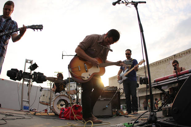Beau Jennings and The Tigers perform live at Norman Music Festival in 2012. Photo by Nathan Poppe, The Oklahoman Archives  <strong>POPPE</strong>