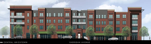 The Steel Yard apartments, E Sheridan Avenue in Bricktown. Construction set to start next year.