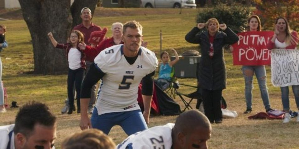 Photo -  Alan Ritchson appears in the R-rated football comedy