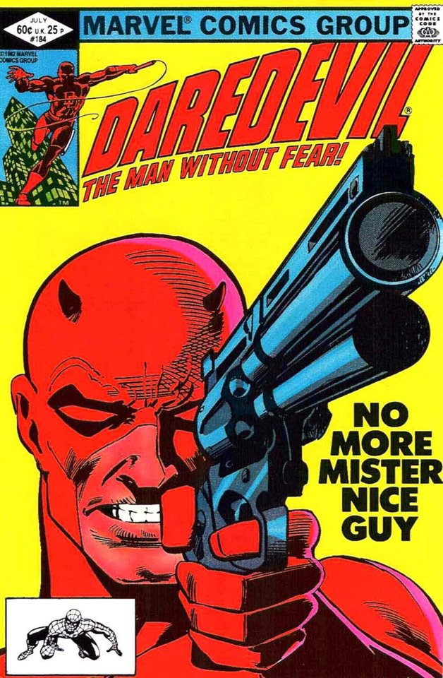 "Photo -  Frank Miller had the Punisher face off with Daredevil in his run on ""Daredevil."" [Marvel Comics image]"