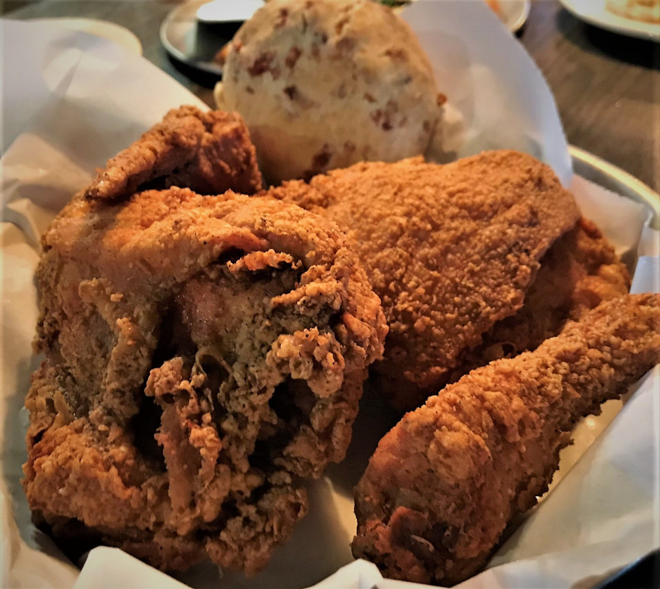 Photo -  Classic fried chicken from The Drum Room Wedge, which recently opened in Midwest City. [Photo by Dave Cathey, The Oklahoman]