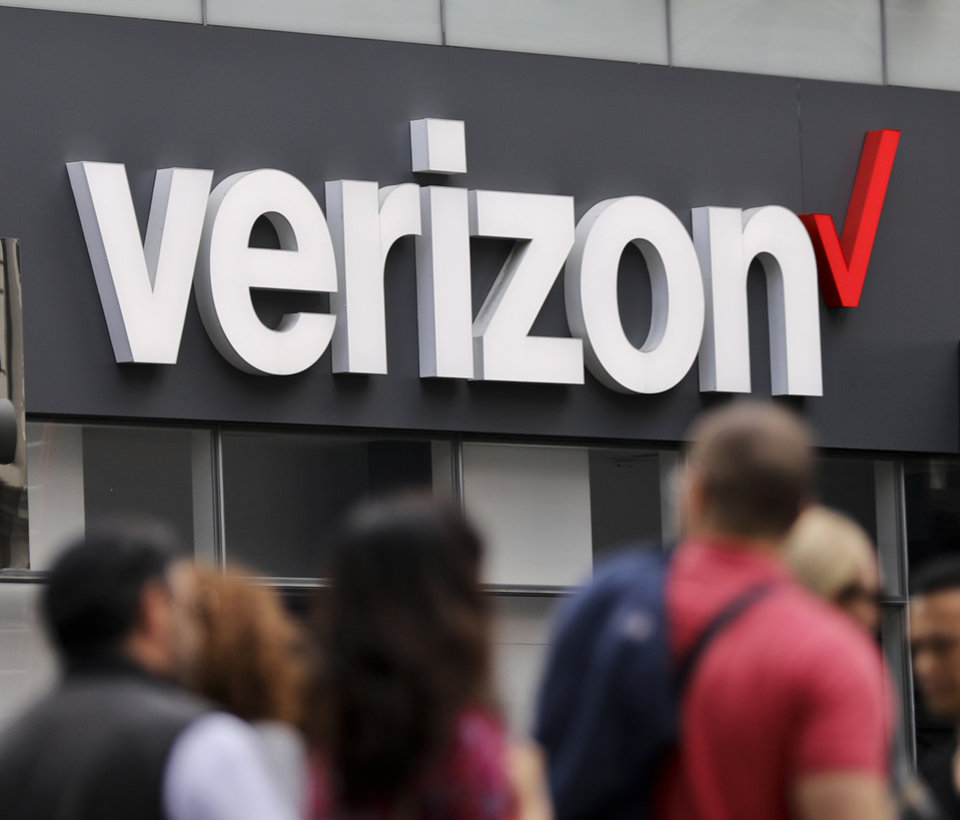 Photo - Oklahoma Verizon users were without service Wednesday due to fiber cuts, the company said. (AP Photo/Bebeto Matthews, File)