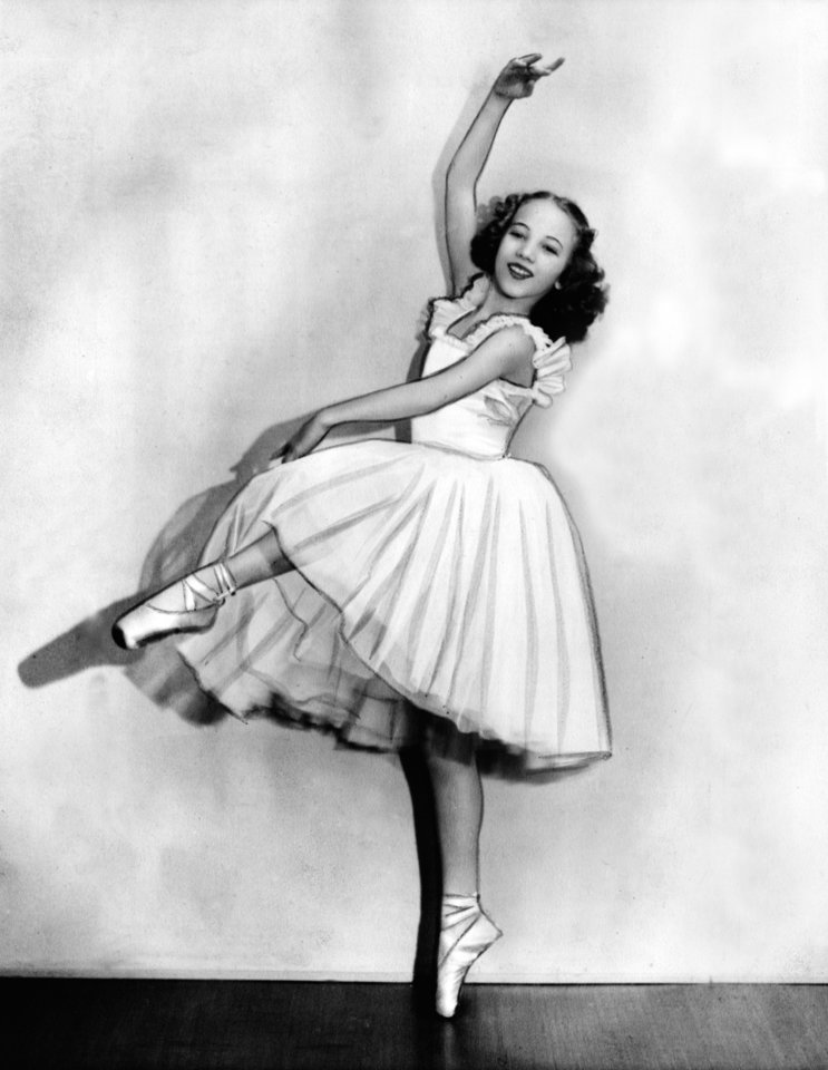 Photo - Photo of Oklahoma City ballet dancer Yvonne Chouteau taken in April of 1940.   Chouteau would have been about 10 years old.  Chouteau and her family lived at 1625 NW 20 at this time. Photo dated 4/30/40