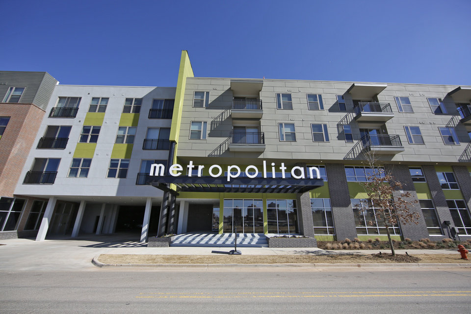 The Metropolitan Apartments  800 N Oklahoma Ave  is the largest housing  project built to date in downtown Oklahoma City   Photos By Steve Gooch   Residents moving into Oklahoma City s largest downtown apartment  . Okc Downtown Living. Home Design Ideas