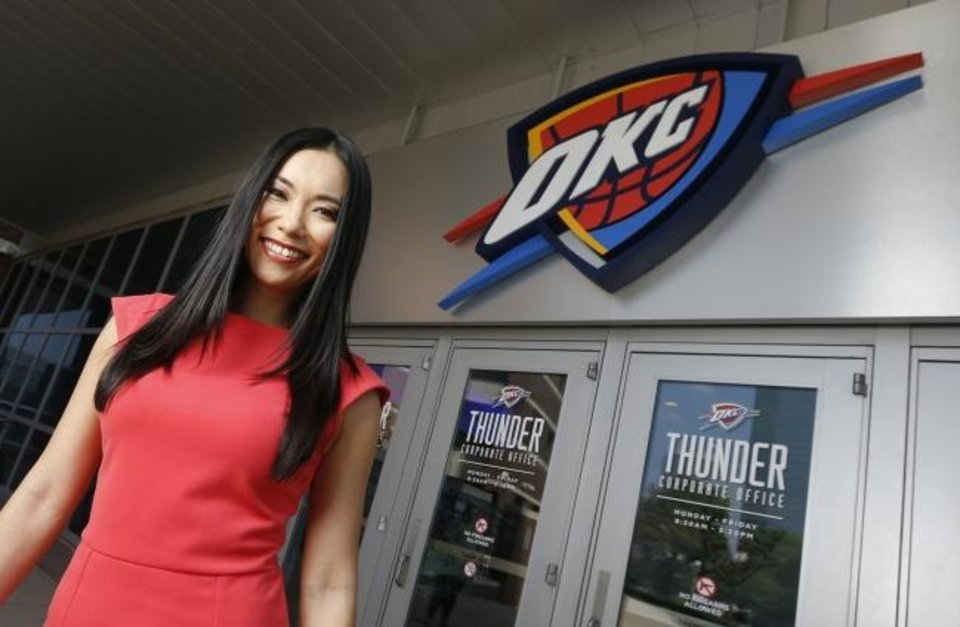 Photo -  Thunder Girl Kei is in her second stint with the team after moving from Japan. [Nate Billings/The Oklahoman]