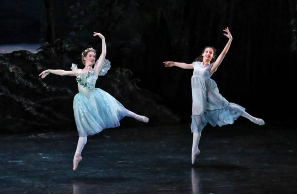 "Photo - Oklahoma City Ballet soloist Amanda Herd-Popejoy performs ""A Midsummer Night's Dream"" for hundreds of schoolchildren from across the state April 24 at the Civic Center Music Hall as part of OKC Ballet's ArtsReach program. Photos by Jim Beckel, The Oklahoman"