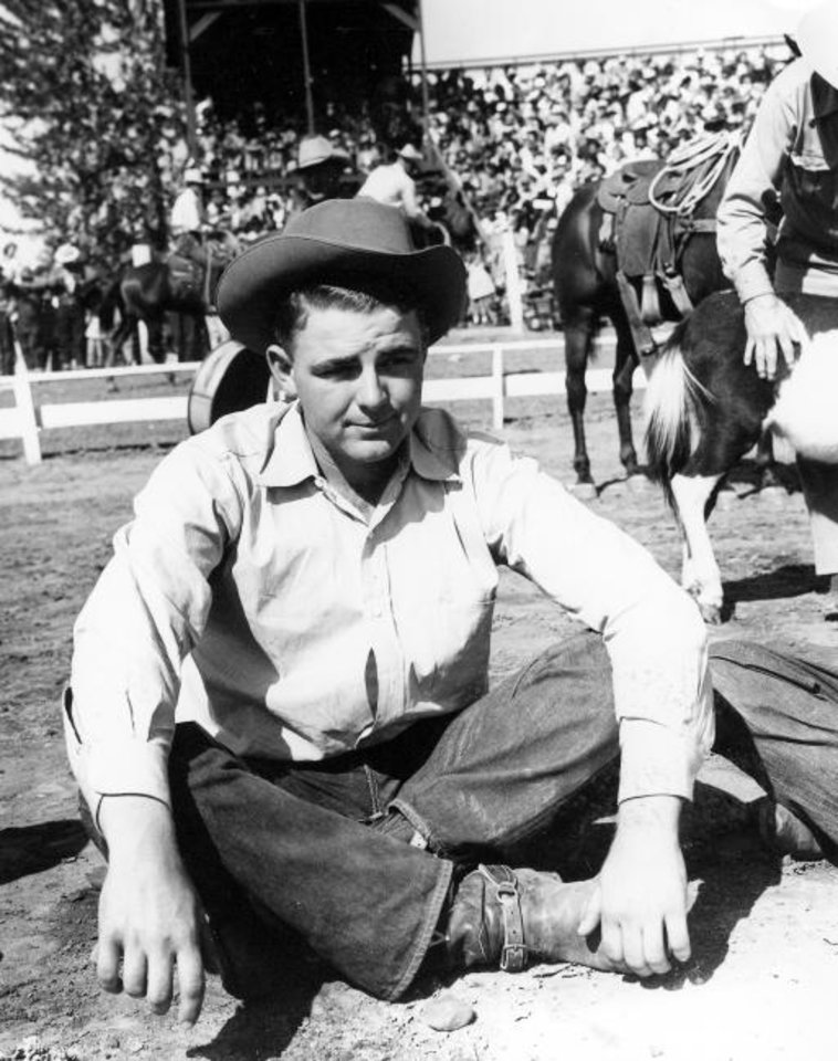 Photo -  The late Clark McEntire (1927-2014), three-time world champion steer roper and father of country music icon Reba McEntire, will be posthumously inducted into the Hall of Great Westerners on Saturday night during the Western Heritage Awards. [Photo provided]