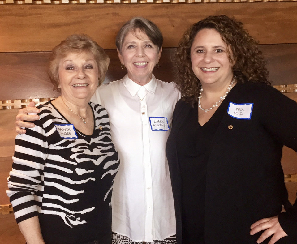 Photo - Ardyth McGee, Susan Higgins and Tina Izadi. PHOTO PROVIDED