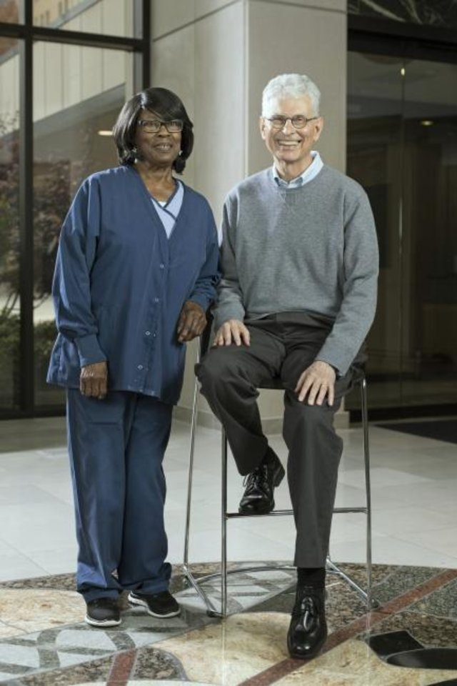 Photo -  OMRF's Dr. Rodger McEver helped create a new drug to treat sickle cell disease that could ease the symptoms of patients like Mary Long. [PROVIDED]