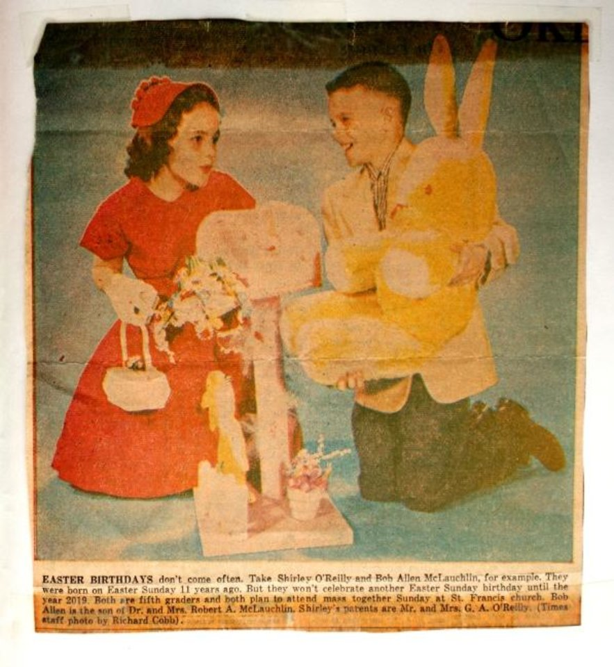 Photo -  In this 1957 clipping from The Daily Oklahoman/Oklahoma City Times, Shirley O'Reilly and Robert