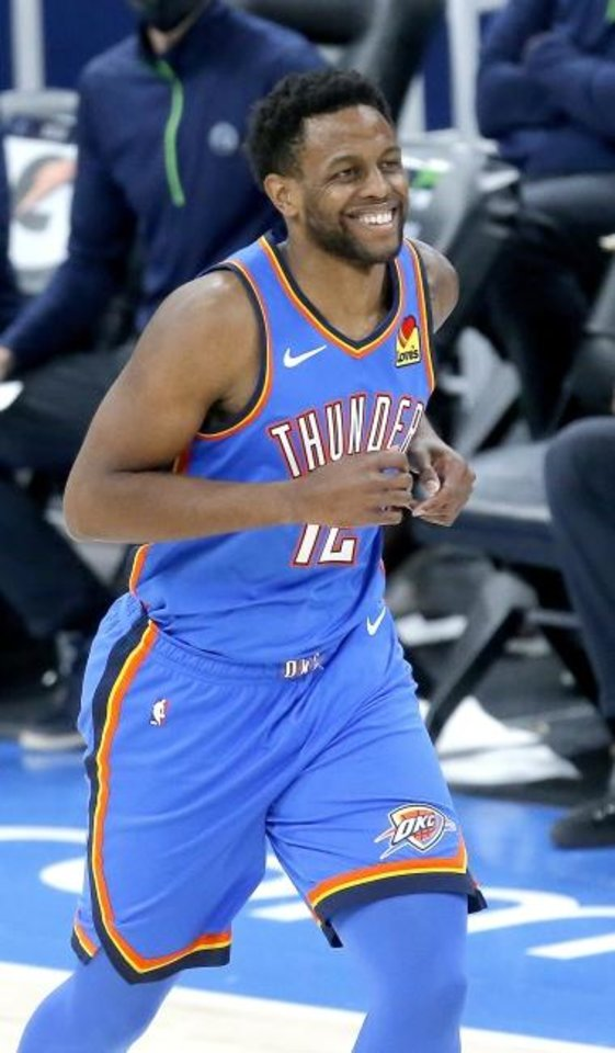 Photo -  Darius Miller scored a season-high nine points Friday night in the Thunder's 106-103 loss to the Timberwolves. He logged 14 minutes for the undermanned Thunder. It was the most Miller had played in almost two years. [Sarah Phipps/The Oklahoman]