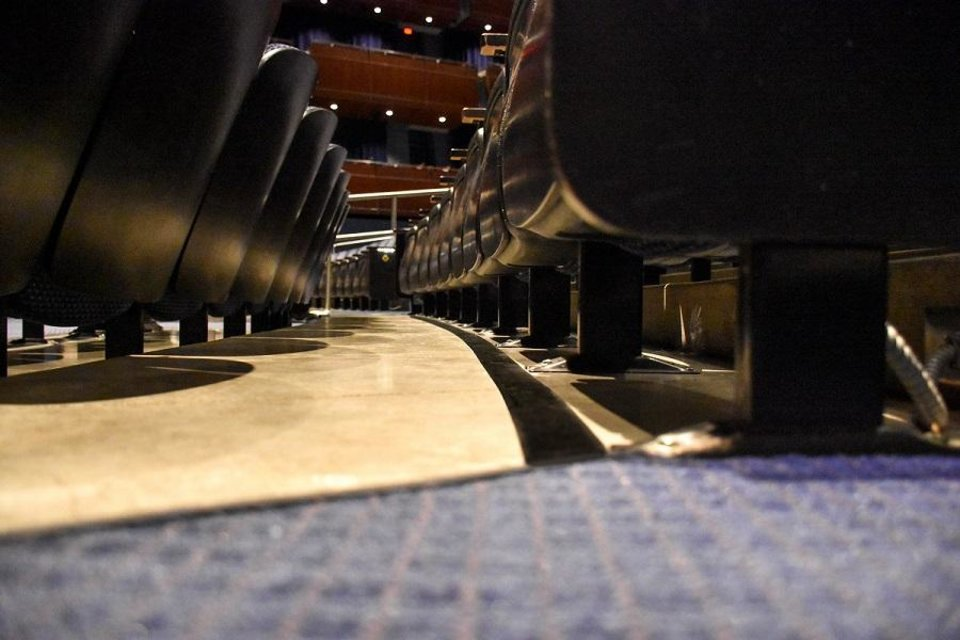 Photo - The Civic Center Music Hall is making improvements for patrons who use hearing aids with the installation of a new hearing loop system installed in the floor of its Thelma Gaylord Performing Arts Theatre. Photo provided
