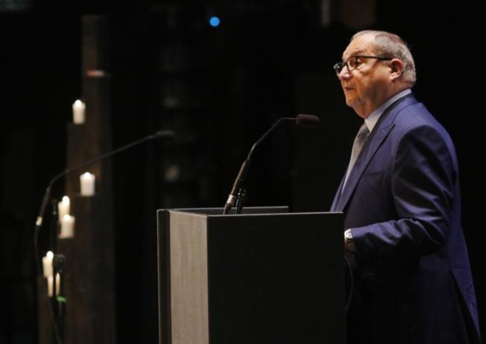 Photo - Abraham H. Foxman, National Director Emeritus of the Anti-Defamation League, speaks at