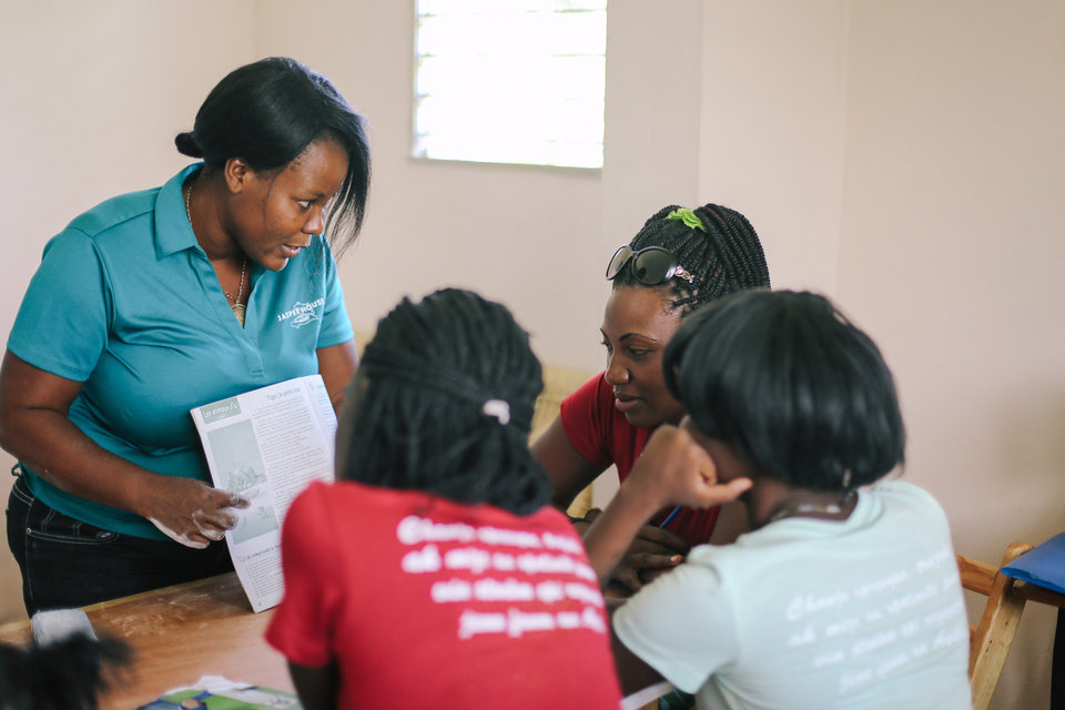 Photo -  A classroom at Jasper House Haiti. The nonprofit stresses the importance of education and gives women the opportunity to attend local school, receive literacy and basic life skills training at an in-house education center. [Photo provided]