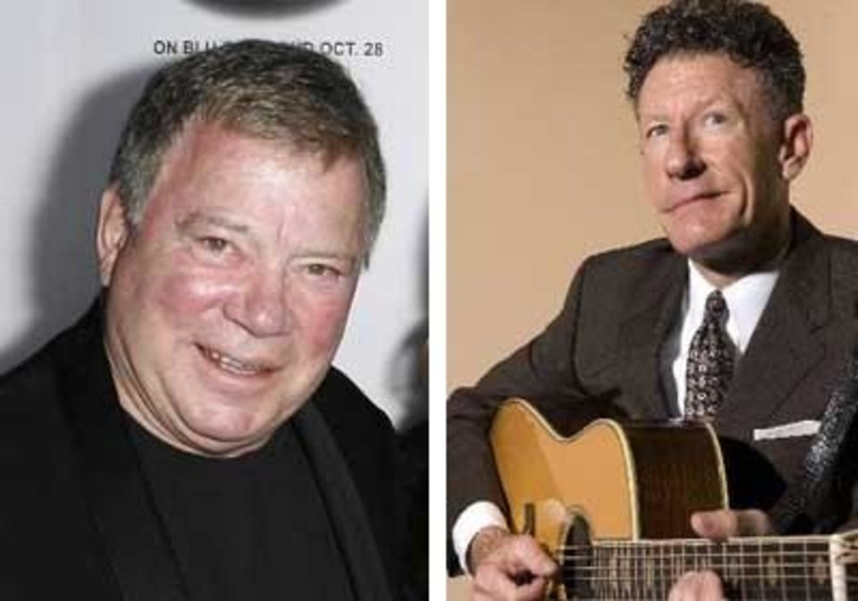 Photo - Left: William Shatner Right: Lyle Lovett
