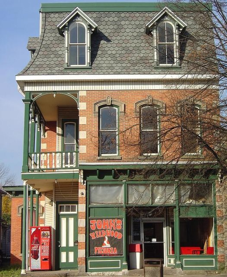 Photo -  Jim's old apartment was on the top floor of this Pennsylvania building, above John's Wildwood Pizza.