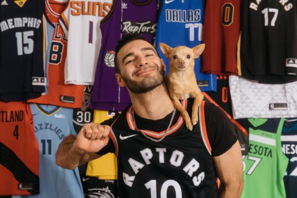 Photo -  Christian Stoinev and his dog, Percy, are one of the NBA's favorite halftime acts.