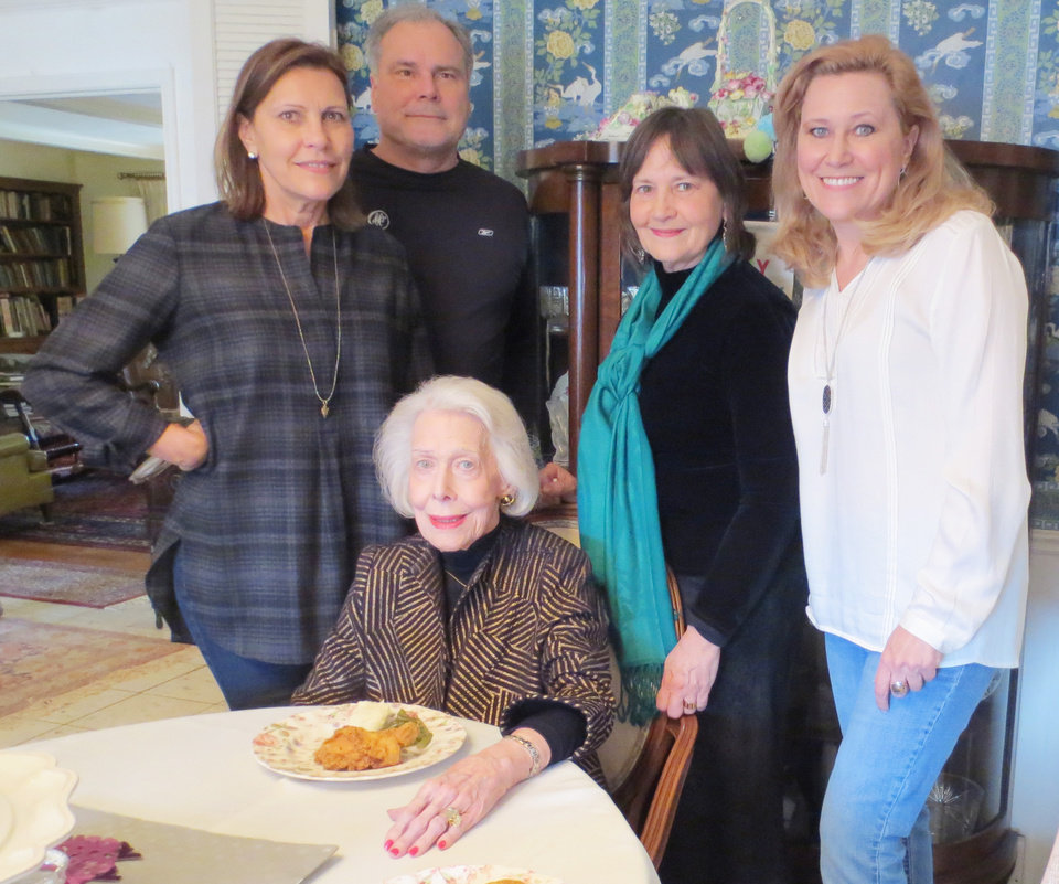 Photo - Gaye Sherman, Brad Sullivan, Sherry Sullivan, Laura Sullivan,standing, and Dr. Sunshine Sanger Myers, seated. PHOTO BY HELEN FORD WALLACE