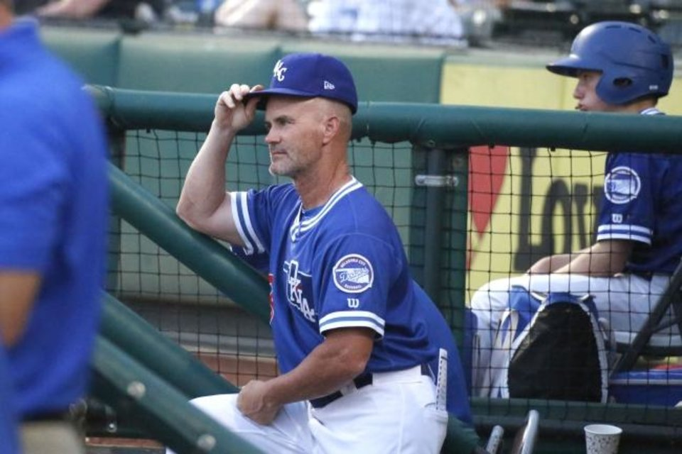 Photo -  OKC Dodgers manager Travis Barbary has taken in 18-year-old catcher Diego Cartaya while baseball has been shut down due to the coronavirus pandemic. [Paxson Haws/The Oklahoman]