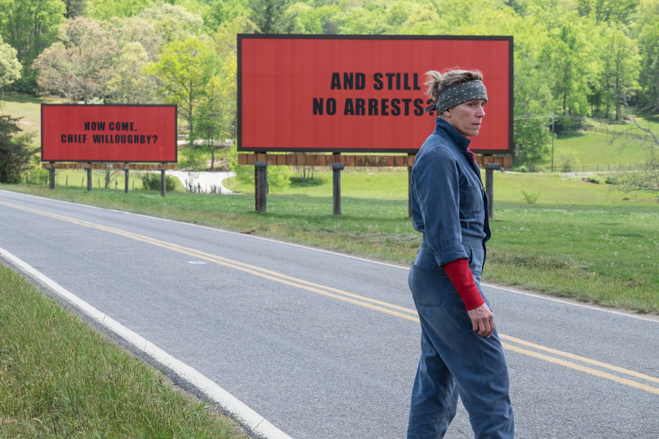 Photo -  Frances McDormand is a grieving mother with a vendetta against the local sheriff in