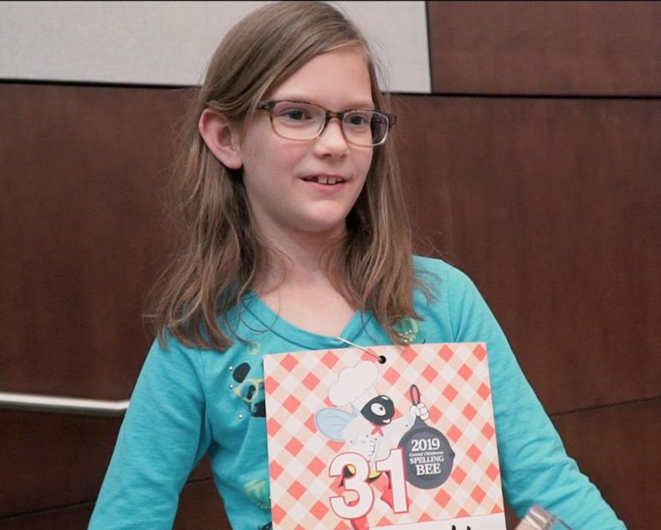 Photo - Rachel Hamilton won the 2019 Central Oklahoma Spelling Bee.
