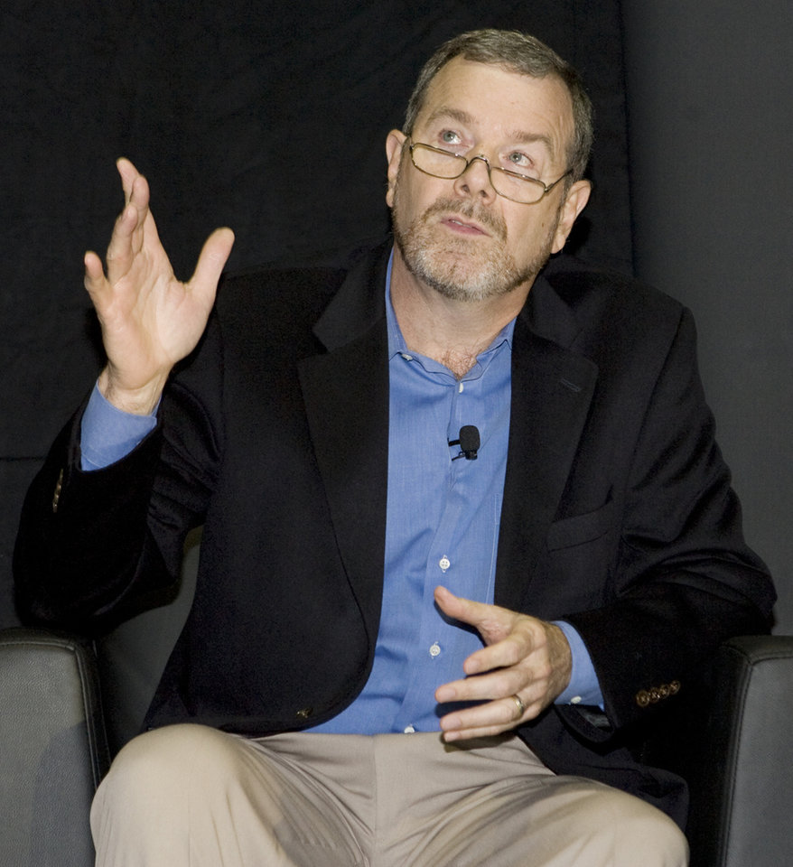 Photo - Head coach PJ Carlesimo speaks during the unveiling of the Oklahoma City Thunder NBA team name at Leadership Square in downtown Oklahoma City, Wednesday, September 3, 2008. NATE BILLINGS, THE OKLAHOMAN