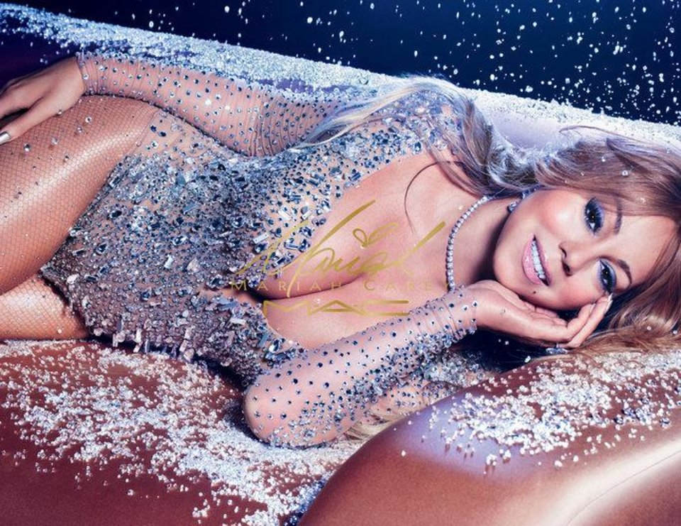 Photo - Mariah Carey's advertisement for her new MAC holiday collection.