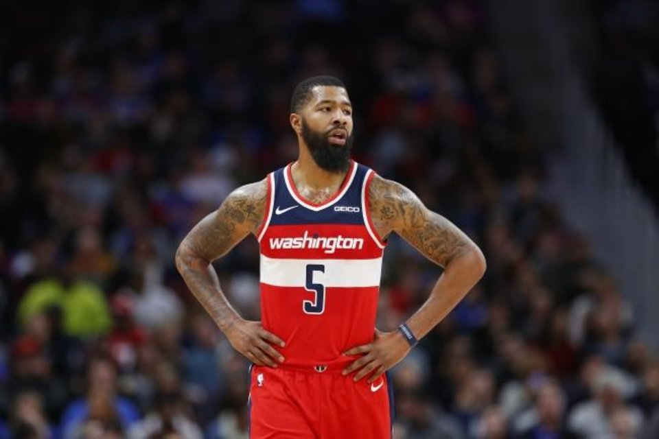 Photo -  Markieff Morris averaged 11.5 points, 5.1 rebounds and 1.8 assists with Washington this season before he was traded to New Orleans on Feb. 7. [AP Photo/Duane Burleson]