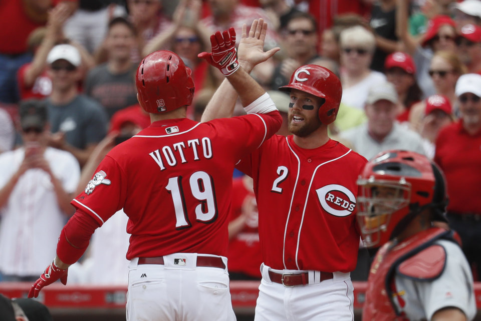 Image result for votto home run cardinals