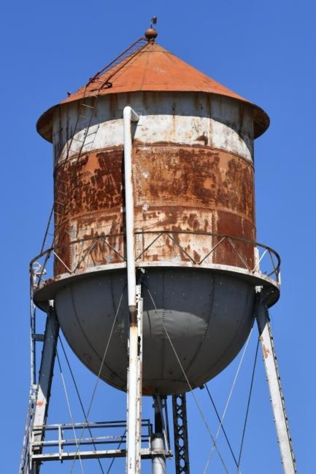 Photo -  The 54-year-old water tower in Randlett is being nominated for the National Register of Historic Places.